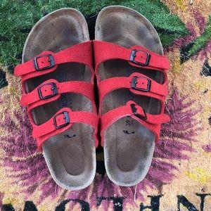 Red Birkenstock Sandal